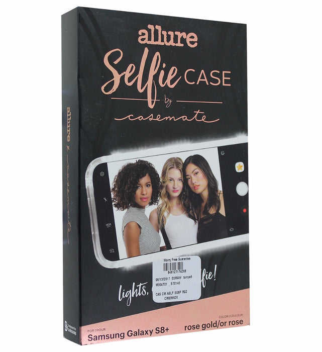 Case-Mate Allure LED Selfie Case for Samsung Galaxy S8+ (Plus) - Rose Gold - Macs Plus More