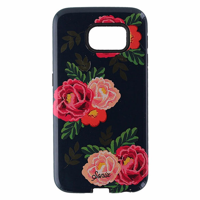 Sonix Inlay Case for Samsung Galaxy S6 - Dark Blue/Lolita Red Flowers - Macs Plus More
