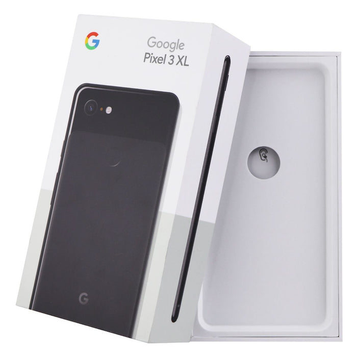 RETAIL BOX - Google Pixel 3 XL - 128GB Just Black - Tray Included - NO DEVICE - Macs Plus More