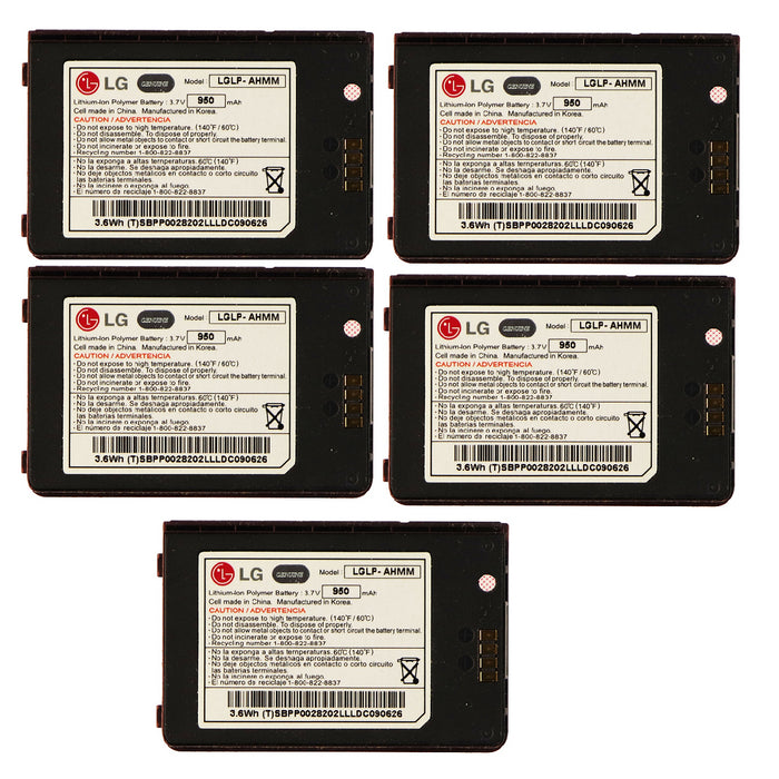 KIT 5x LG LGLP-AHMM 950 mAh Replacement Battery for Env 3 VX9200 - Macs Plus More