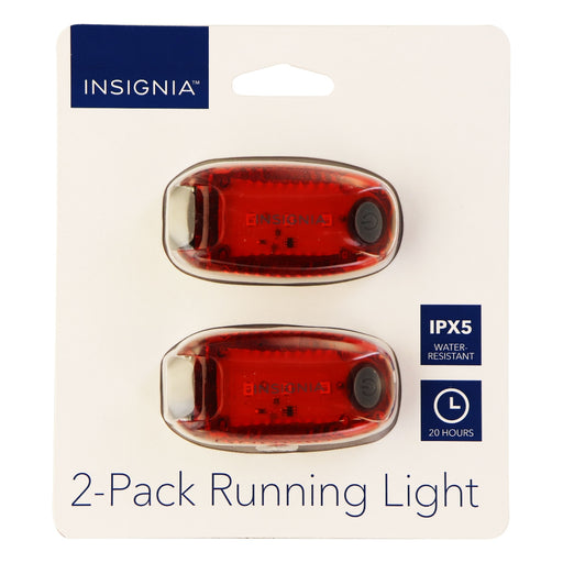Insignia 2 Pack of LED Running Lights for Running/Walking/Biking - Red - Macs Plus More