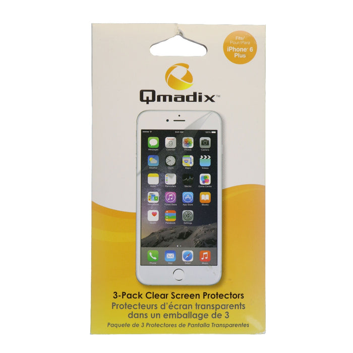 Qmadix Screen Guard Protector for the Apple iPhone 6s Plus and 6 Plus - Clear - Macs Plus More