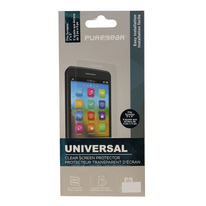 PureGear Universal Screen Protector for 3 to 5-inch Devices - Clear - Macs Plus More