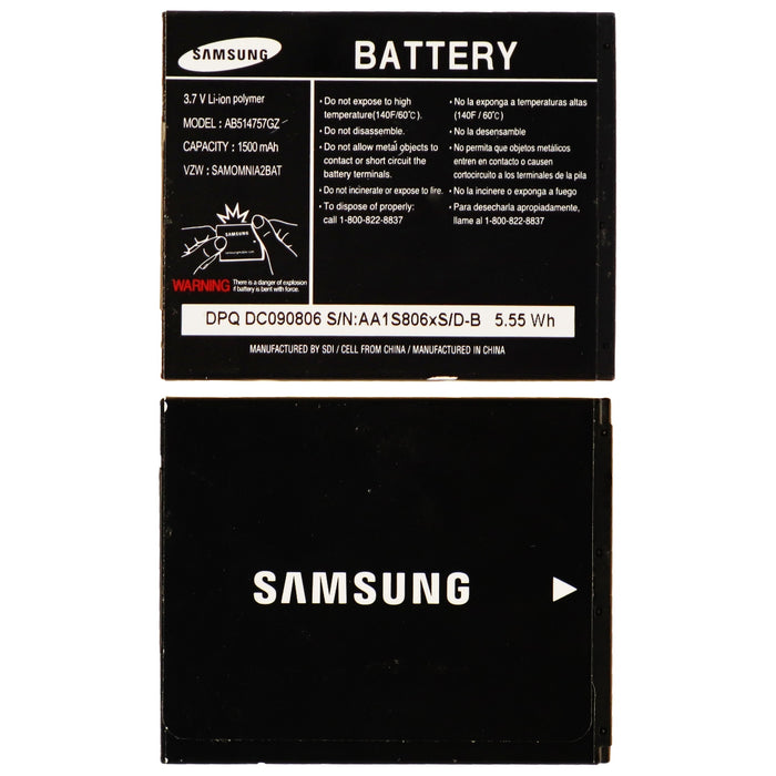 OEM Samsung 1500mAh Li-ion Battery AB514757GZ 3.7V for Omina II i910 i930 - Macs Plus More