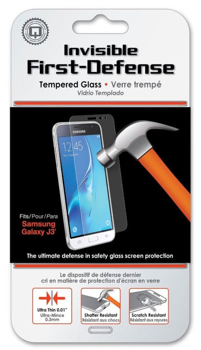 Qmadix Invisible First-Defense Tempered Glass Screen Protector for Galaxy J3
