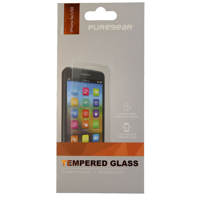 PureGear High Definition Tempered Glass for Apple iPhone SE 5s 5C 5 - Clear - Macs Plus More
