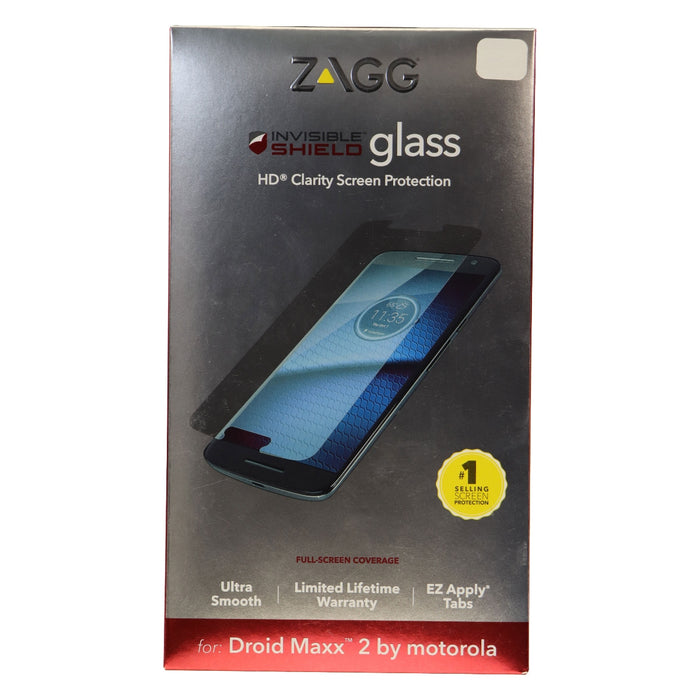 ZAGG Tempered Glass HD Screen Protector for Motorola Droid Maxx 2 - Clear