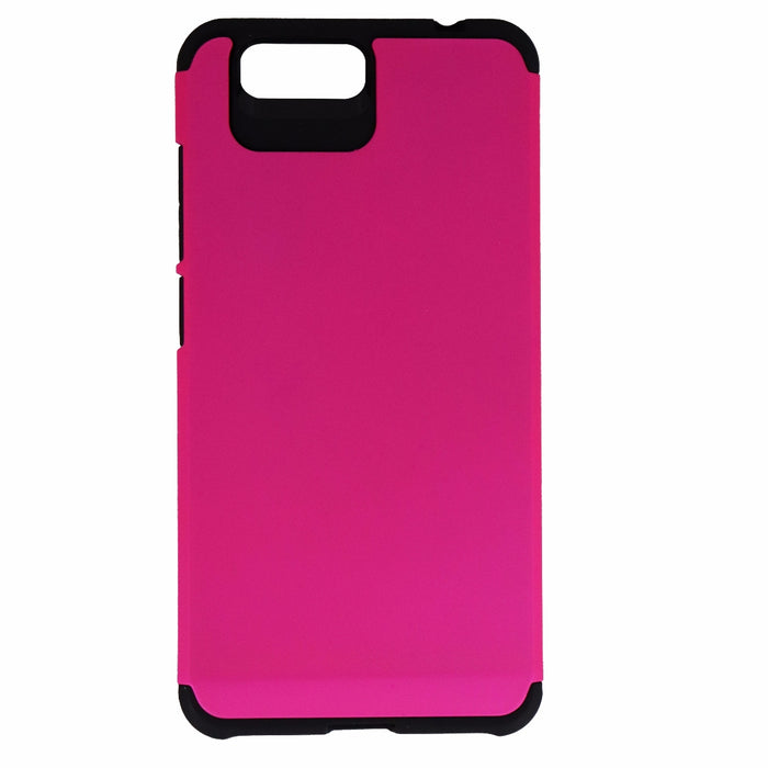 TekYa Dual Layer Case Cover for BLU Vivo 5 - Matte Pink / Black - Macs Plus More