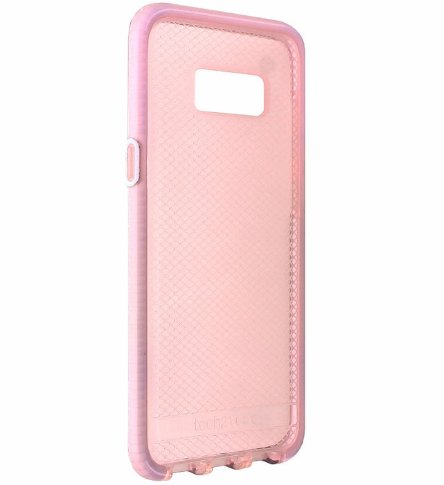 Tech21 Evo Check Gel Case for Samsung Galaxy (S8+) Plus - Rose Tint / White - Macs Plus More