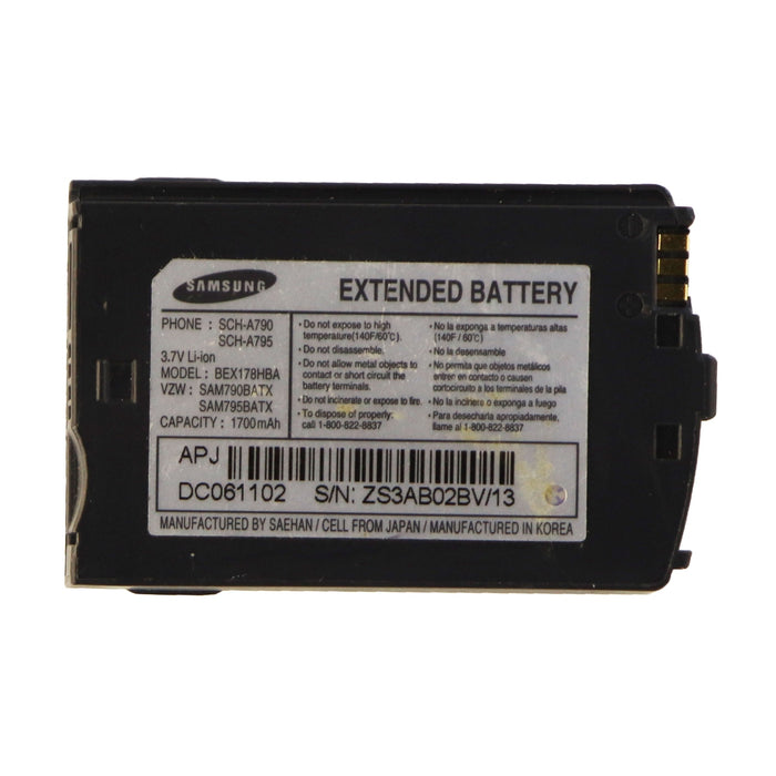 OEM Samsung Extended 1,700mAh Li-ion Battery BEX178HBA 3.7V for A790 A795