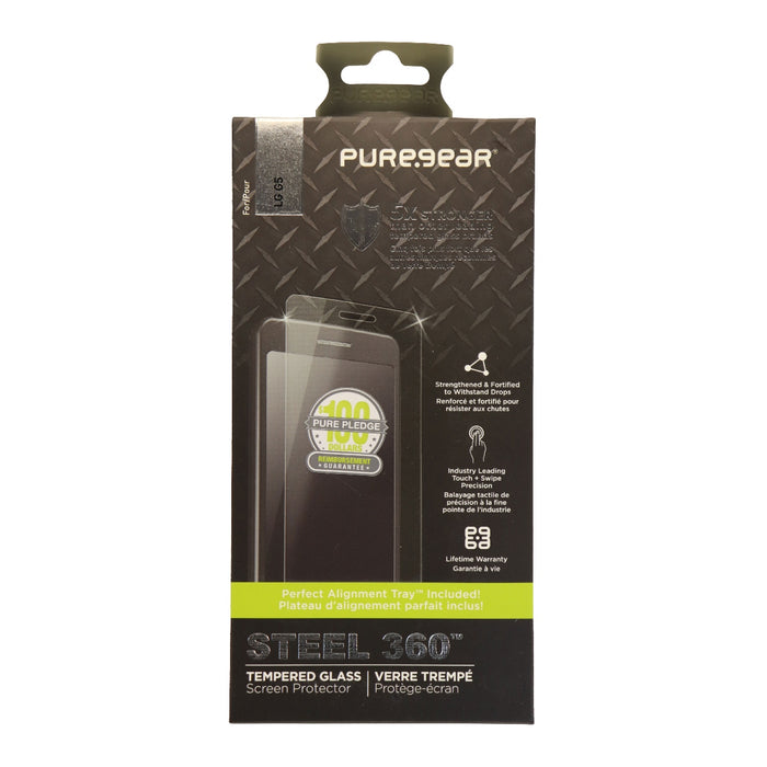 PureGear Steel 360 Tempered Glass Screen Protector for LG G5 - Clear