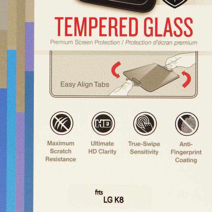 RandomOrder Tempered Glass Screen Protector for the LG K8 - Clear - Macs Plus More