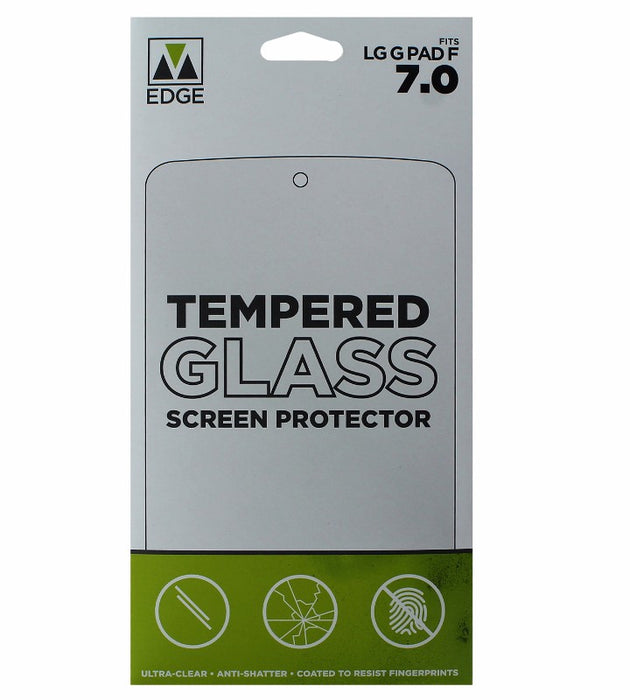 M-Edge Tempered Glass Screen Protector for LG G Pad F 7.0 - Clear - Macs Plus More