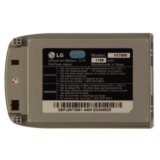 LG Replacement 1100mAh Lithium Ion Battery for LG VX7000 - Silver - Macs Plus More