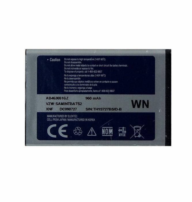 Samsung Rechargeable (960mAh) OEM Battery (AB463651GZ) for Rogue SCH-U960 - Macs Plus More