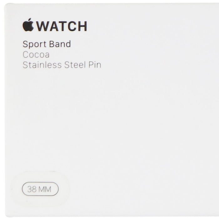 Apple Watch Sport Band (38mm) for Apple Watch Any Series 38mm & 40mm - Cocoa - Macs Plus More