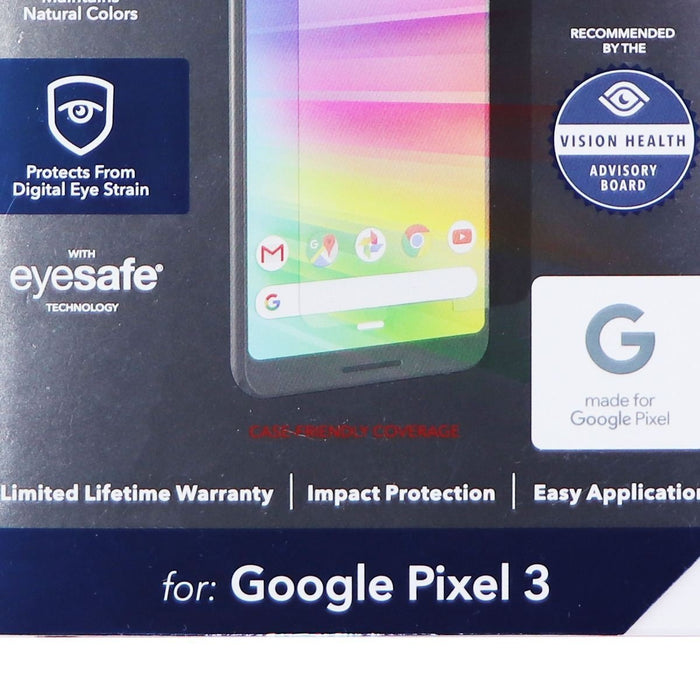 ZAGG InvisibleShield Tempered Glass+ VisionGuard for Google Pixel 3 - Clear - Macs Plus More