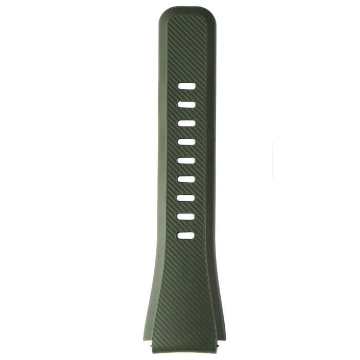 Samsung 22mm Silicone Replacement Adjusting Strap for Gear S3 Band - Green Khaki - Macs Plus More