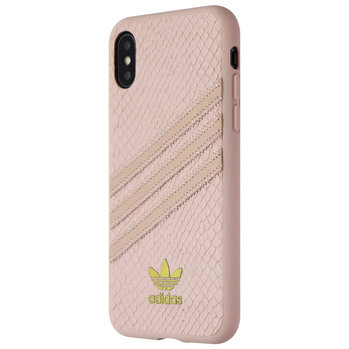 Adidas 3-Stripes Snap Case for Apple iPhone XS and X - Pink Snake / Gold - Macs Plus More