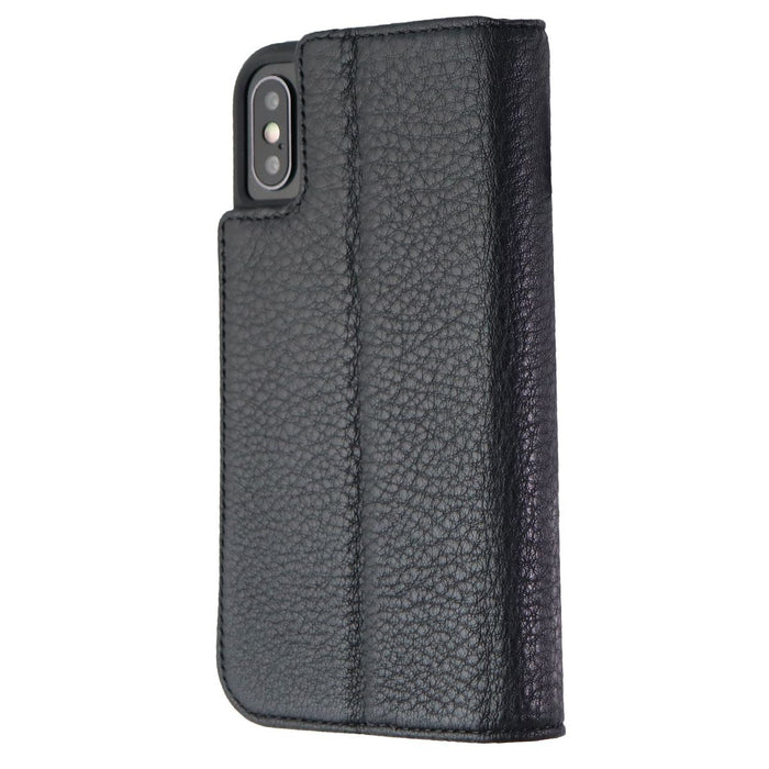 Case-Mate Wallet Folio Case for Apple iPhone XS and X - Fine Black Leather