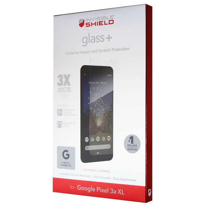 ZAGG Glass+ Tempered Glass Screen Protector for Google Pixel 3a XL - Clear