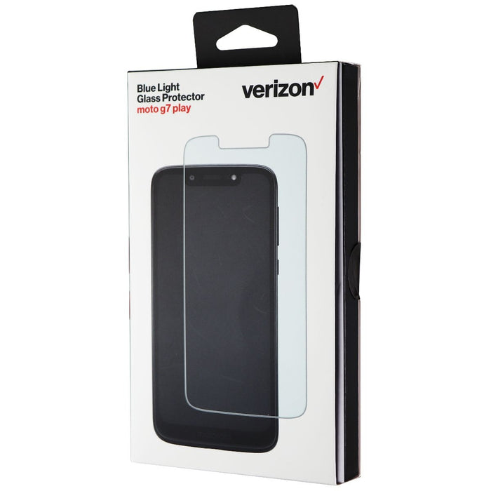 Verizon Blue Light Filter Tempered Glass Protector for Motorola Moto G7 Play - Macs Plus More