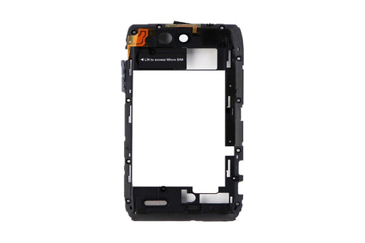 Mid Frame w/ Camera Lens for Motorola Droid 4 XT894 Inner - Black - Macs Plus More