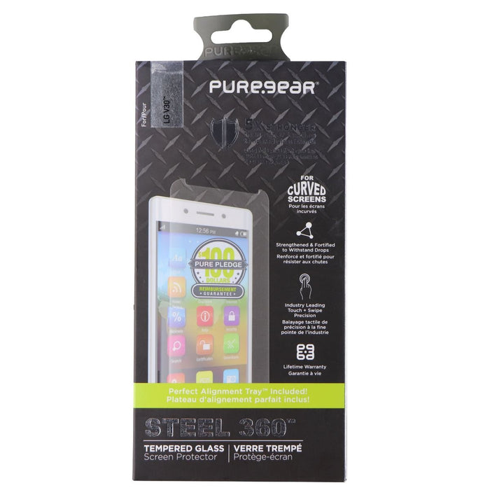 PureGear Steel 360 Series Tempered Glass Screen Protector for LG V30 - Macs Plus More