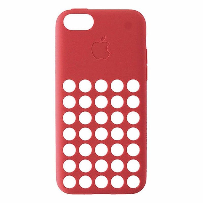 Official Apple Silicone Soft Case for Apple iPhone 5C - Pink / Peach - Macs Plus More