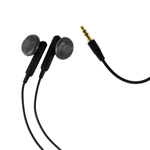 LG 3.5mm Stereo EarBud Headphones with Headset/Microphone Adapter - Black - Macs Plus More