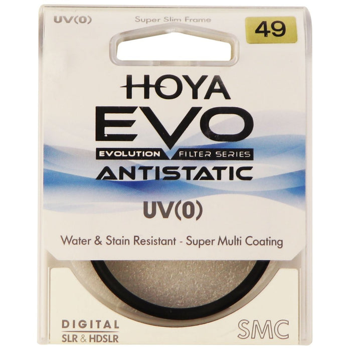 Hoya Evo Antistatic UV Filter - 49mm - Water Repellent, Low-Profile Filter Frame - Macs Plus More