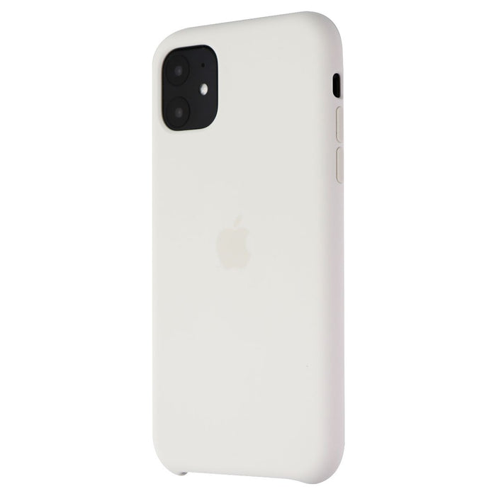 Apple Silicone Case for iPhone 11 Smartphones - White (MWVX2ZM/A) - Macs Plus More