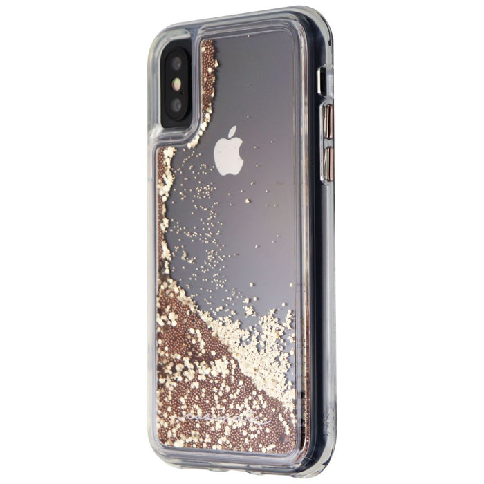 Case-Mate Waterfall Liquid Glitter Case for iPhone Xs and iPhone X - Clear/Gold - Macs Plus More