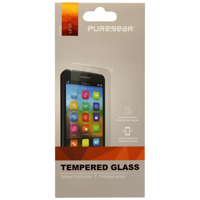 PureGear Tempered Glass Screen Protector for LG G5 Smartphones - Clear - Macs Plus More