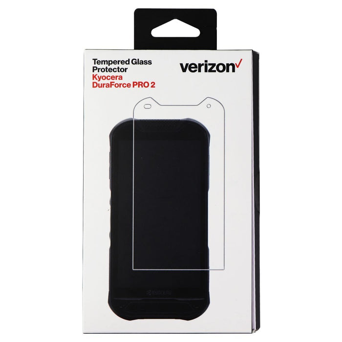 Verizon Tempered Glass Screen Protector for Kyocera DuraForce PRO 2 - Clear - Macs Plus More