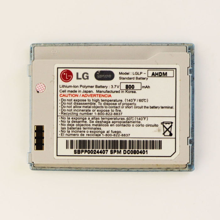 LG 800mAh OEM Battery (LGLP-AHDM) 3.7V for Chocolate VX8500 - Light Blue - Macs Plus More
