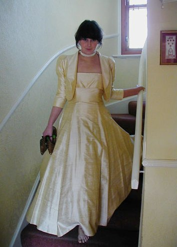 Droopy & Browns wild silk 80s ballgown