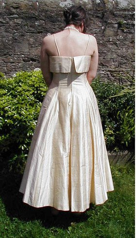 Droopy & Browns 80s silk ballgown
