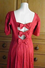 red dress with back bows