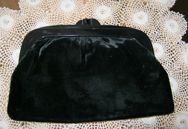 black velvet clutch purse