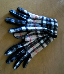 nova check tartan gloves