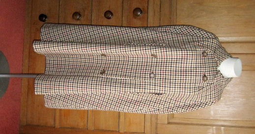 Miss Marple dogtooth check cape