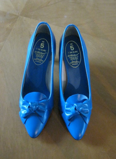 Electric blue 80s shoes