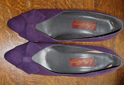 new wave purple suede shoes