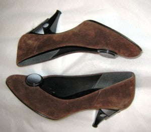80s new wave brown suede shoes