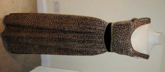 vintage inspired leopard print maxi dress