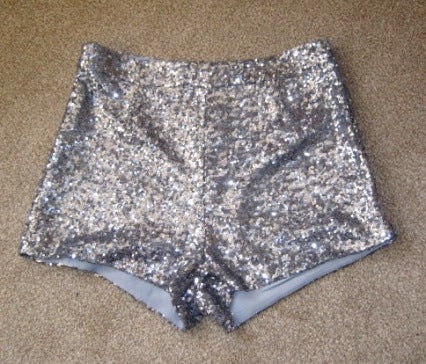 silver hotpants