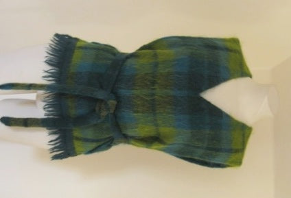 green plaid mohair tabard