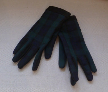 black watch tartan gloves