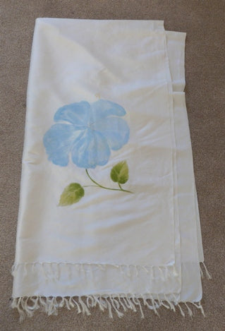 ivory dupion wedding stole